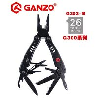 Ganzo G302 series G302 B Multi pliers 26 Tools in One Hand Tool Set Screwdriver Kit Portable Folding Knife Stainless pliers