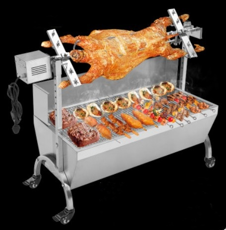 stainless steel auto charcoal bbq roasted whole lamb stove motor charcoal bbq barbecue grill. Black Bedroom Furniture Sets. Home Design Ideas