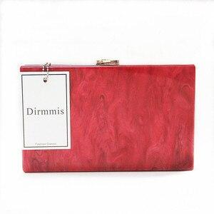 Image 2 - חדש ארנק נשים שליח תיק מותג אופנה מוצק תיק השיש פנינה אדום אישה EveningBag יוקרה קטן כתף מזדמן מצמד