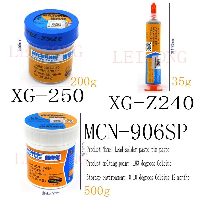 1pcs Free Shipping MECHANIC Solder Paste Solder Flux Fpr Bga Repairing 906SP XG-250 XZ-Z40
