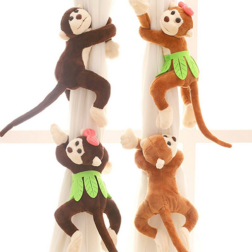 Cute Fluffy Monkey Curtain Tie Back Tiebacks Drapery Hooks Children Room Decor