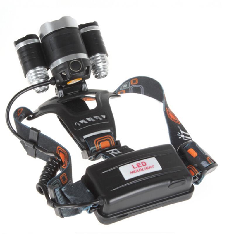 6000 Lumens Max 4 Modes Battery LED Headlamp Headlight Bright Head Light Waterproof Flashlight High Power LED Headlamp