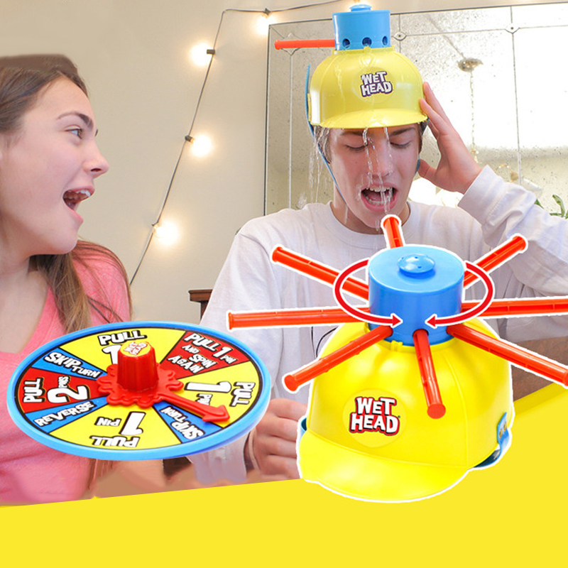 ФОТО Wet Head Funny Jokes Water Roulette Family Party Game Kids Children Toy