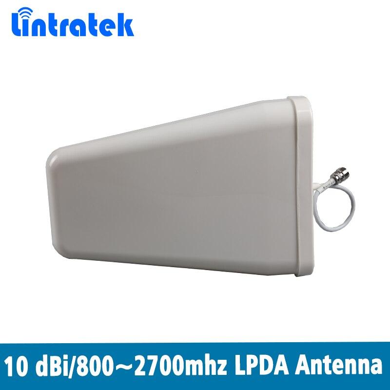 800 ~ 2700 MHz N-Mujer-Log-periódico antena al aire libre LPDA antena para CDMA y GSM y los países en desarrollo Y AWS y WCDMA LTE amplificador de señal