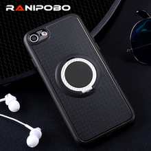 Fashion Finger Ring Case For iphone SE 5 5S 6 6S Plus 7 7 Plus Foldable Kickstand Magnetic Holder Phone Case Cover