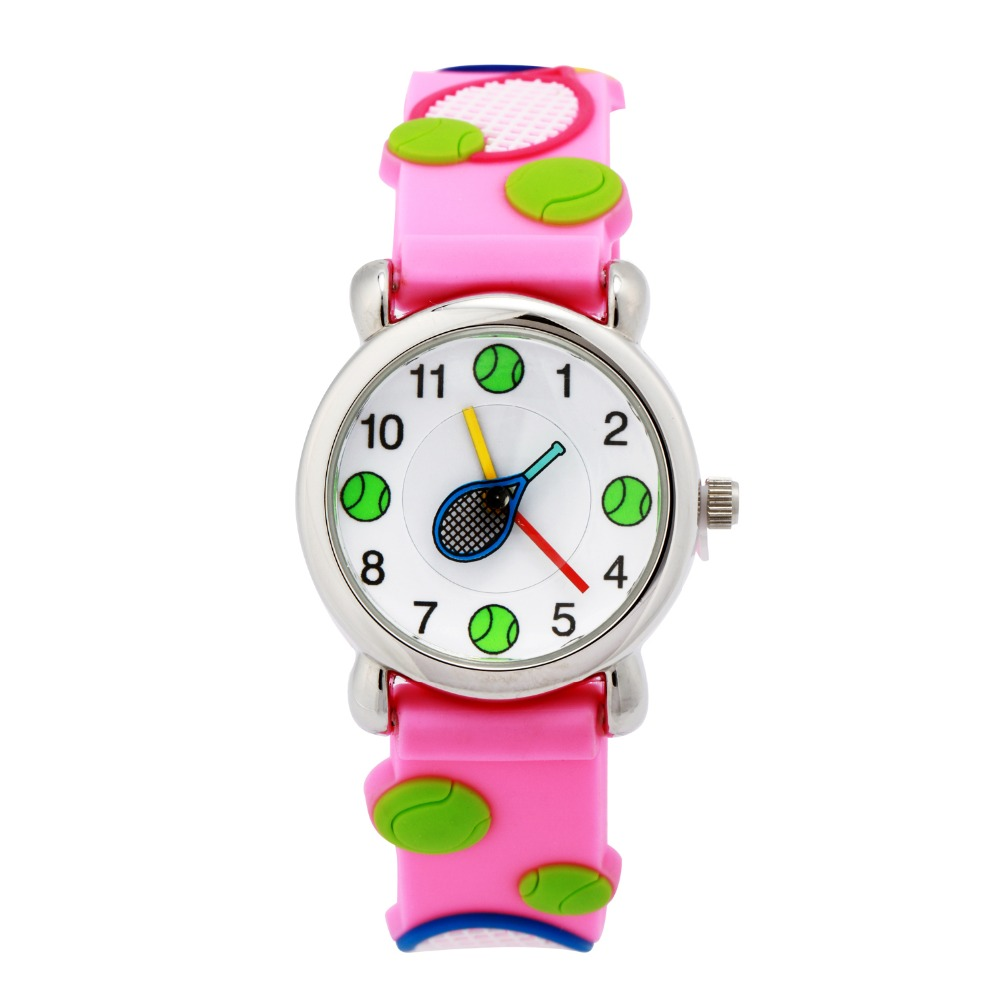 Waterproof Kids Watches Children girls and boy Silicone tennis ball Brand Quartz Wrist Watch Fashion Casual Relogio watch hansying nostalgia newspaper and coffee creative design boy girls kids waterproof quartz watch suitable women men watch
