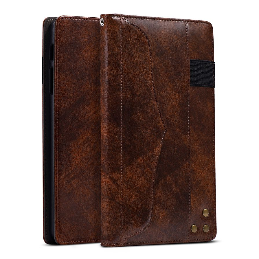 Genuine Wallet Book Leather Cases For Samsung Galaxy Tab A 10.1 2016 T580 T585 T580N Magnetic Stand Sleep Wakup Smart Cover Case