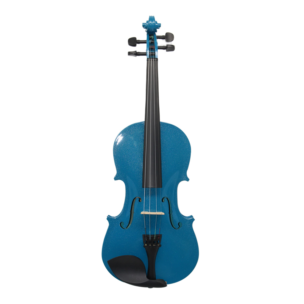 Case Bow Rosin Shoulder Rest Mute Strings Blue Acoustic Violin Violino Viola Violon 4/4 3/4 1/2 1/4 1/8 for Beginner Students violins professional string instruments violin 4 4 natural stripes maple violon master hand craft violino with case bow rosin