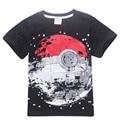 2017 new summer Earth print Kids The Good Luck Trolls short sleeves Tees Clothing Children T Shirts  Youth Boys Girls T-Shirt
