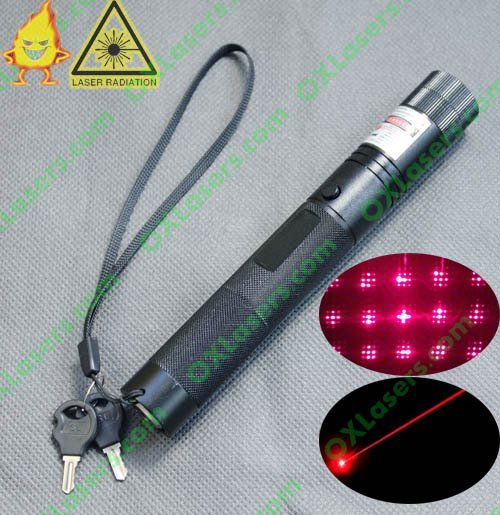 OXLasers OX-R301S 200mW 650nm focusable red laser pointer torch with key lock and star cap  FREE SHIPPING