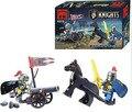 42 UNIDS Niños Bloques de Construcción Camión Hechizo Serie Castillo Medieval Knight Warrior Modelo Juguetes con Legoes Compatible