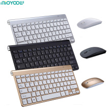 Portable Mute Keys Keyboards 2.4G Ultra Slim Wireless Keyboard&Mouse Set For Mac Win XP 7 10 Vista Android TV Box us keyboard layout ultra slim 2 4ghz usb wireless keyboard with hot keys design for android smart tv windows 10 8 7 xp vista