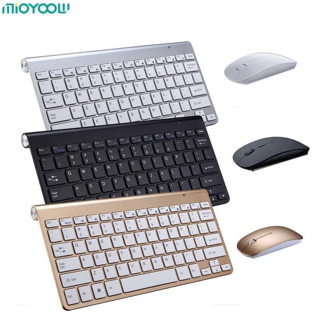 Portable Wireless Keyboard for Mac Notebook Laptop TV box 2 4G Mini Keyboard Mouse Set