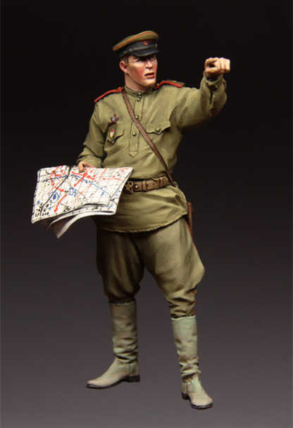 1/35 Resin Figure Model Kit 113 Red Army Officer Unassembled unpainted Top