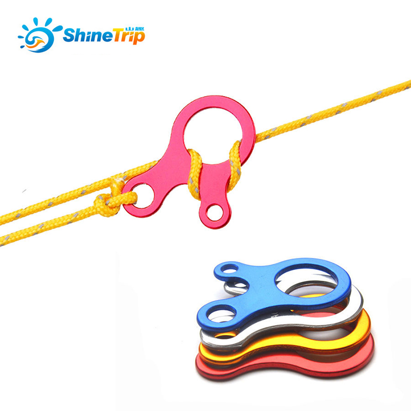 ShineTrip 10 Pcs/lot Camping Tent Cord Rope Fastener Guy Line Runner Carabiner Hook Hanger Tightener