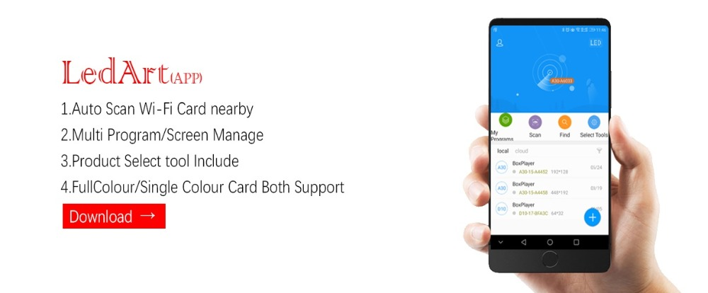 Huidu HD T901 Synchronous Full Color Cartão de Envio