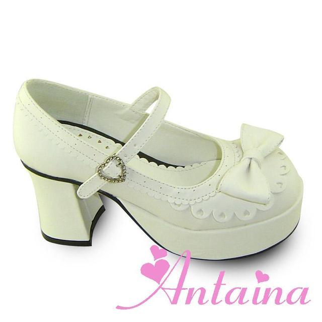 Princess sweet lolita gothic lolita shoes custom  lolita princess one strap high-heeled shoes white an8007  pumps