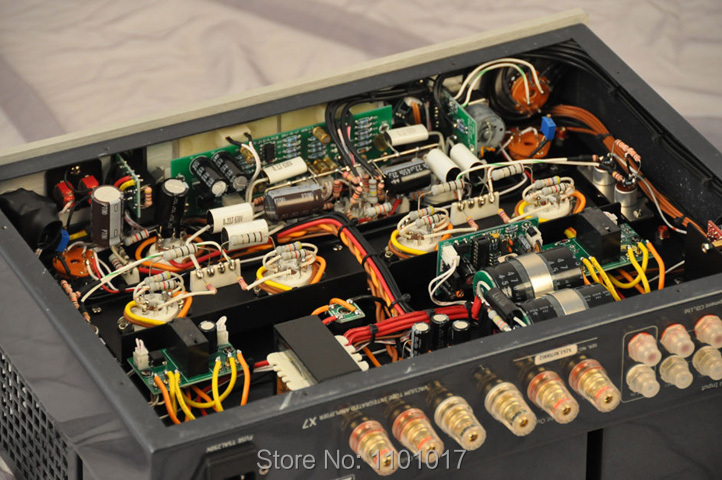 Image 4 - MUZISHARE New X7 KT88 Push Pull tube amplifier HIFI EXQUIS GZ34 Lamp Amp Best Selling With Phono and Remote-in Amplifier from Consumer Electronics