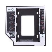 Universal 2.5 2nd 9.5mm Ssd Hd SATA Hard Disk Drive HDD Caddy Adapter Bay F Free Shipping цена и фото