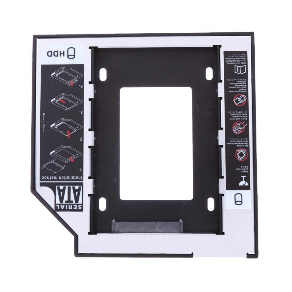 Uniwersalny 2.5 2nd 9.5mm SSD SATA napęd dysku twardego adapter hdd Bay dla Cd Dvd Rom wnęka na napęd optyczny wysokiej jakości