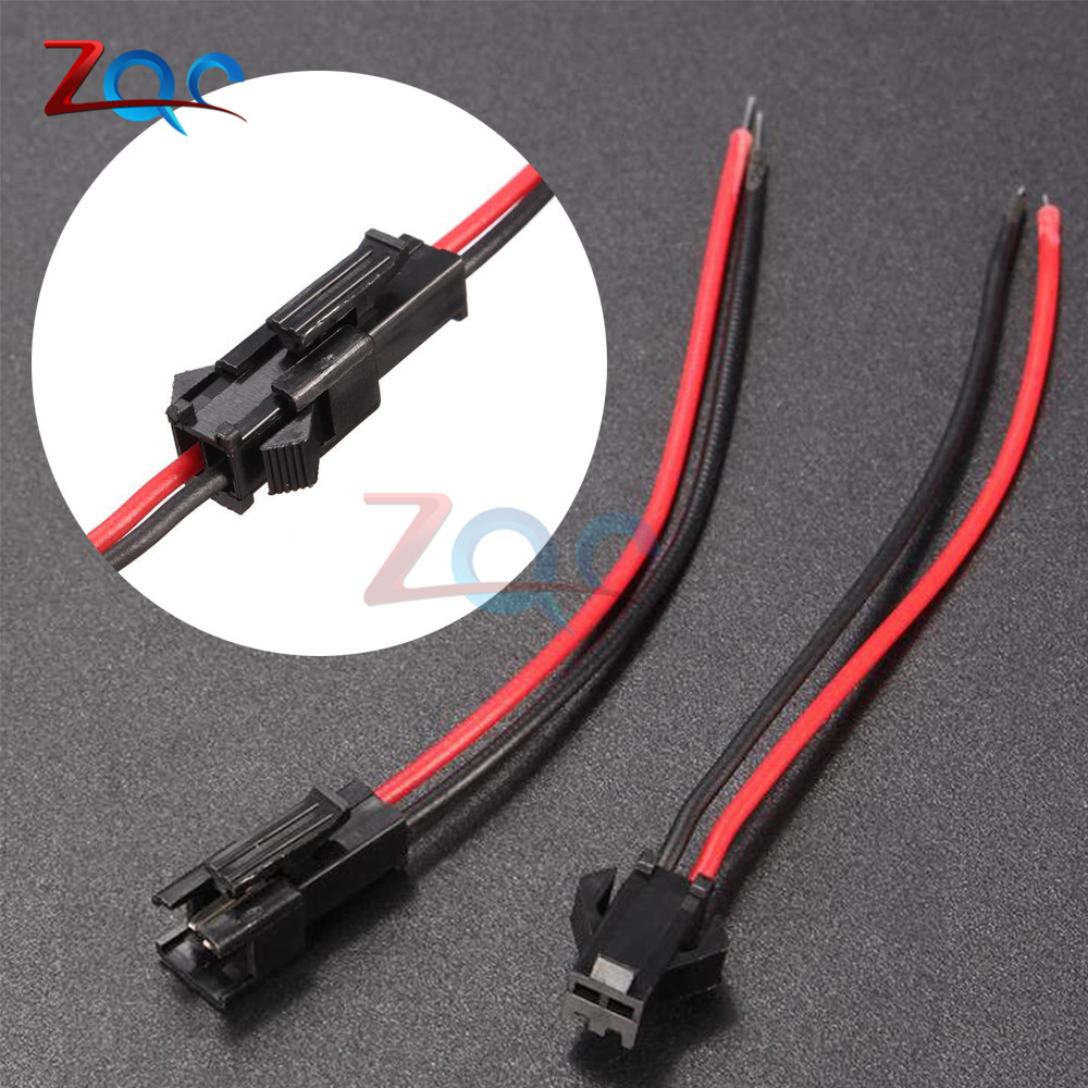 10Pairs 15cm Long JST SM 2Pins Plug Male to Female Wire Connector10Pairs 15cm Long JST SM 2Pins Plug Male to Female Wire Connector