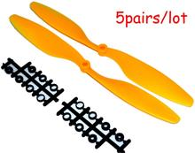 drone with camera LHM071 1045 10″*4.5″ Blade Propeller(Yellow) props For RC 4-axis KK Multicopter Quadcopter +Free shipping
