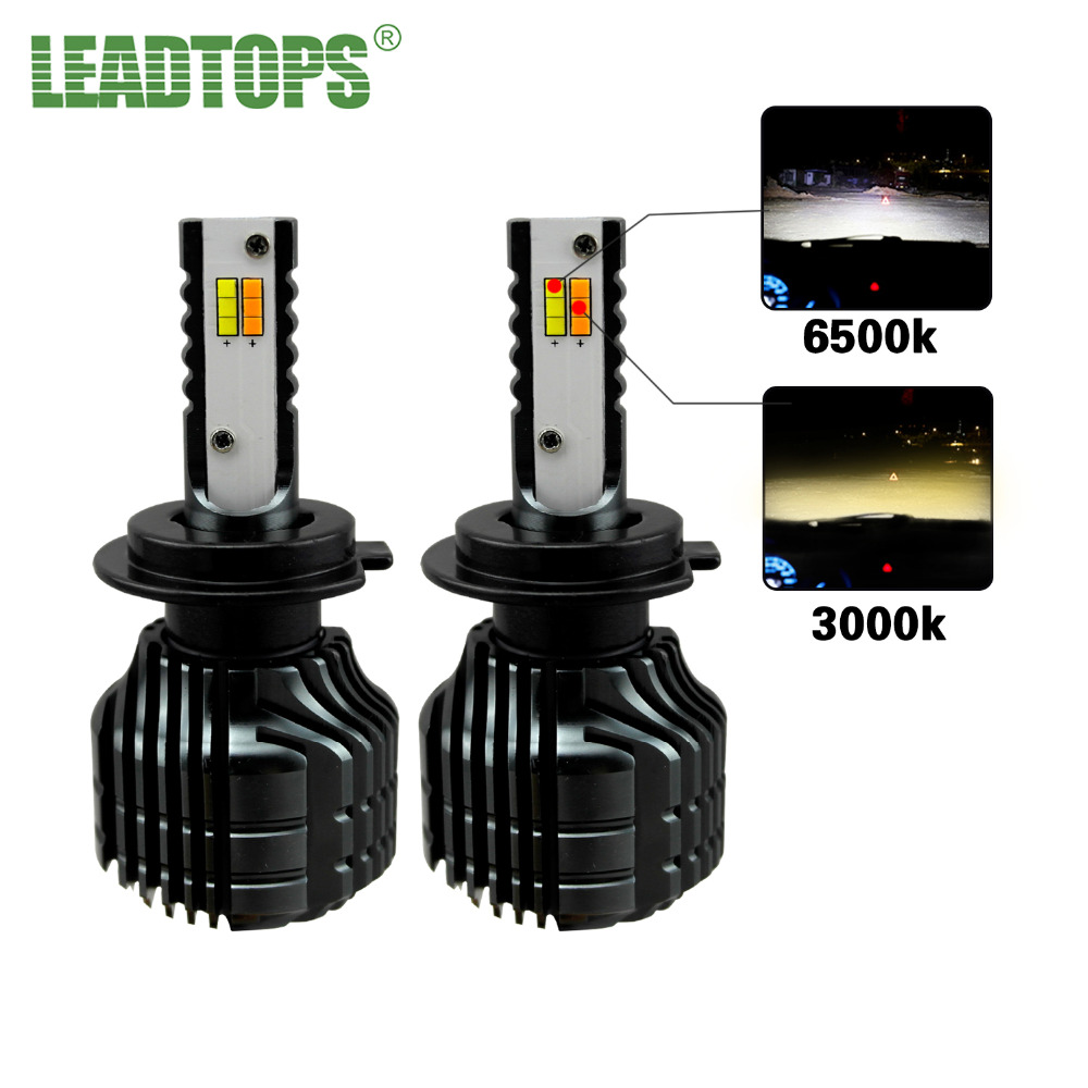 LEADTOPS Mini Size H4 H7 Led Car headlight  H11 9005 9006 HB3 HB4 CSP Chips Auto Headlamp Car Light 8000lm EE auxmart car led headlight h4 h7 h11 h1 h3 9005 9006 9007 cob led car head bulb light 6500k auto headlamp fog light