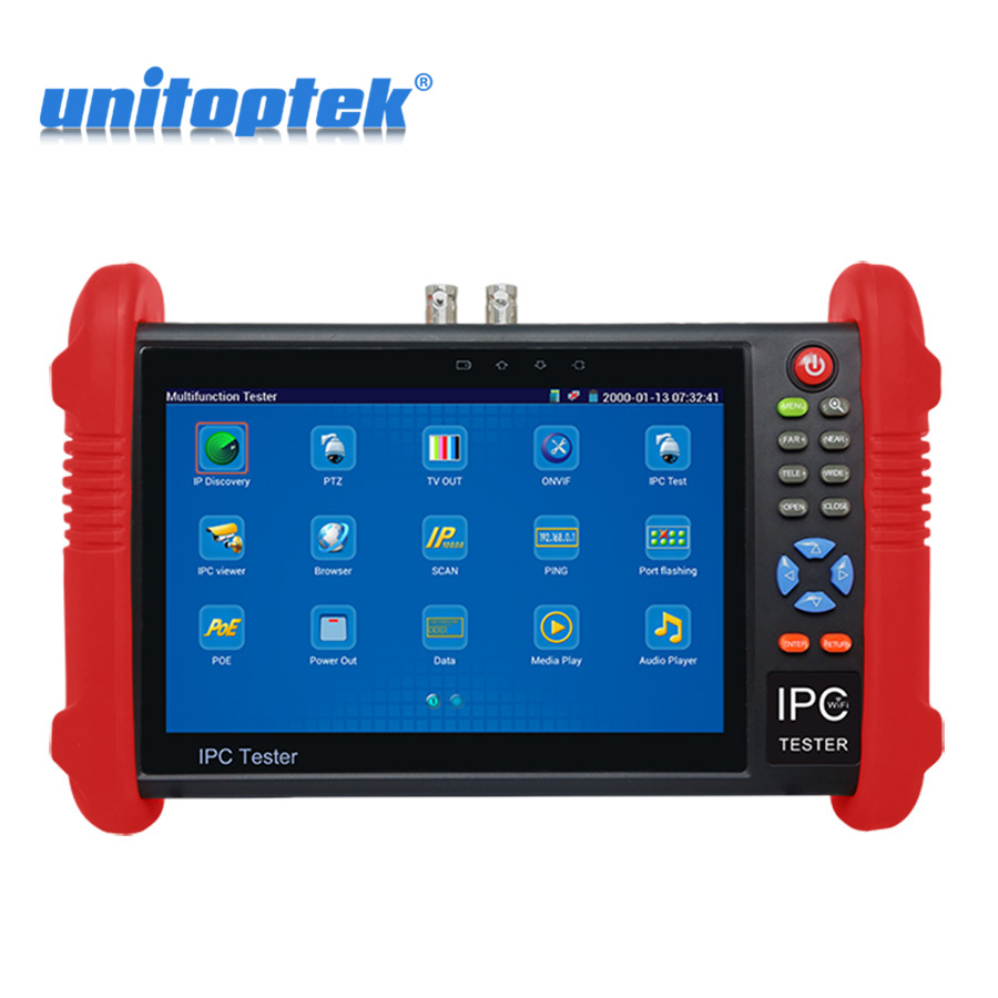цена на WIFI 7 inch LCD CCTV Tester 1080P Onvif IP Camera Test AHD CVI TVI SDI Camera Optional / Customized IPC/ PTZ Coaxial Control etc
