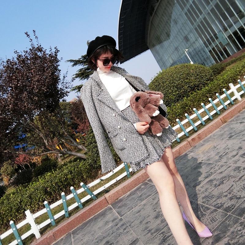 Femmes Vent Et Automne Petit Femelle 1 Était Parfumé Mince Hiver Jupe Veste Plissée Costume Loisirs Féminin t4w56qU5