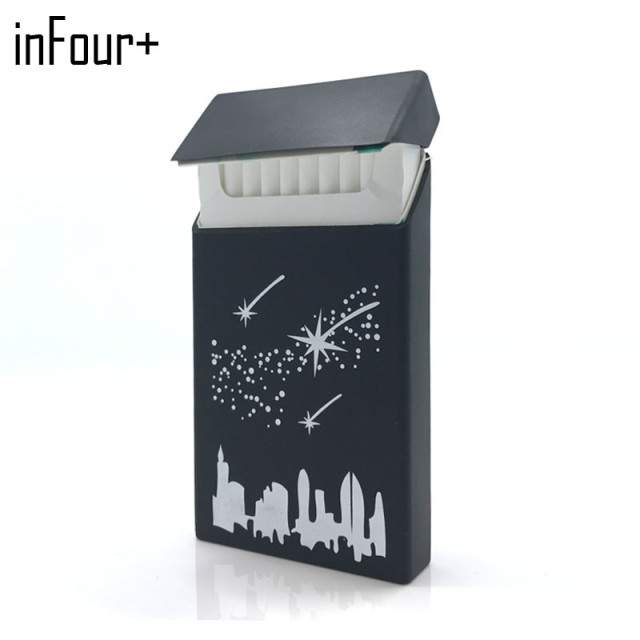 New 5 Colours Stars 10.5*5.8*1.4CM Lady Slims Silicone Cigarette Case  Cover Elastic Rubber Women Cigarette Box Sleeve