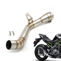 Motorcycle Slip On Full Exhaust Middle Pipe Connection Link Pipe 51mm Muffler For Kawasaki Z900 Z 900 Ninja 900 Stainless Steel