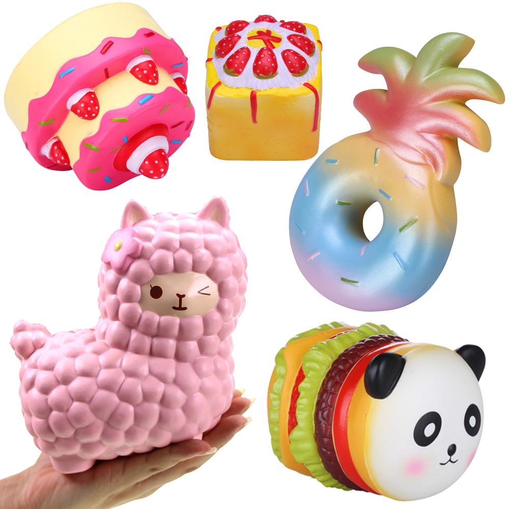 Squishy Order : Vlampo Mix Order 5pcs/set Slow Rising Squishy Toys Wholesale Squishies Kawaii squeeze slow rise ...