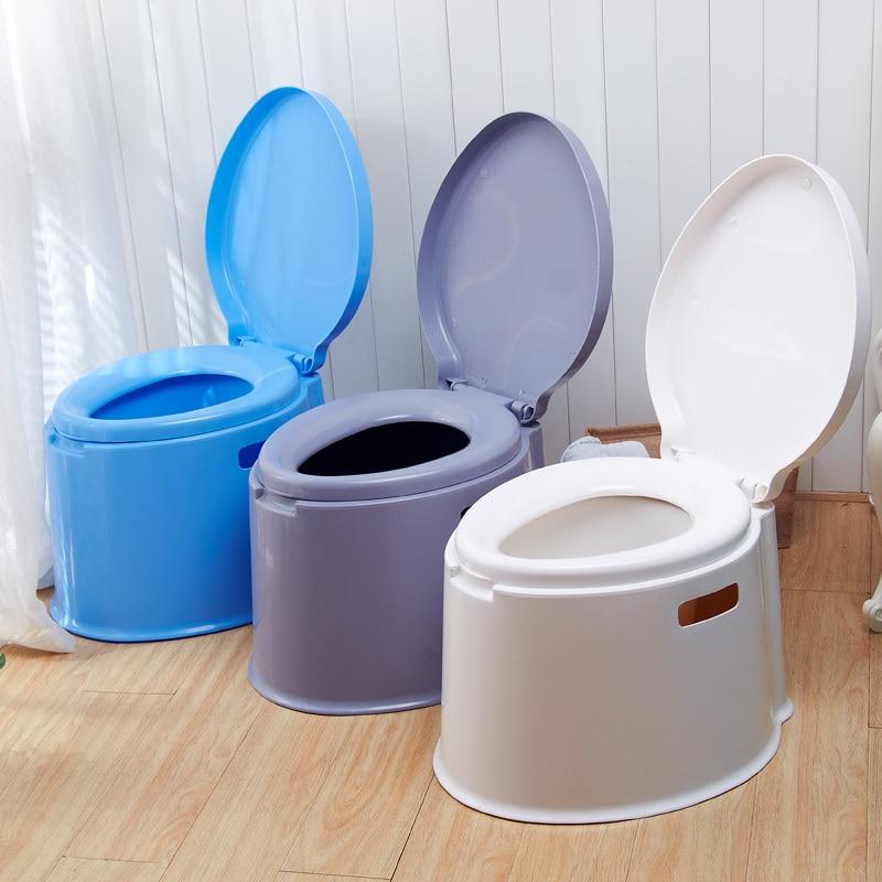 Portable mobile toilet seat toilet pregnant adult thicker plastic toilet toilet elderly - Mobile toilette ...