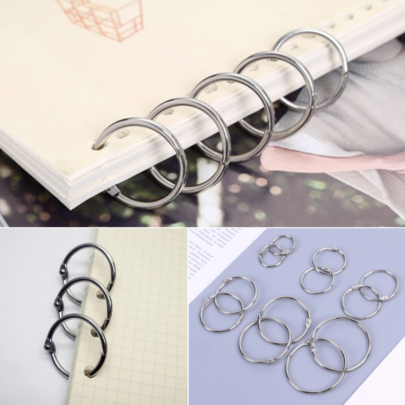 Office Binding Supplies Office & School Supplies Hearty 50pcs Staple Book Binder Keychain Circlip Ring 20mm Outer Diameter Loose Leaf Ring Strong Packing