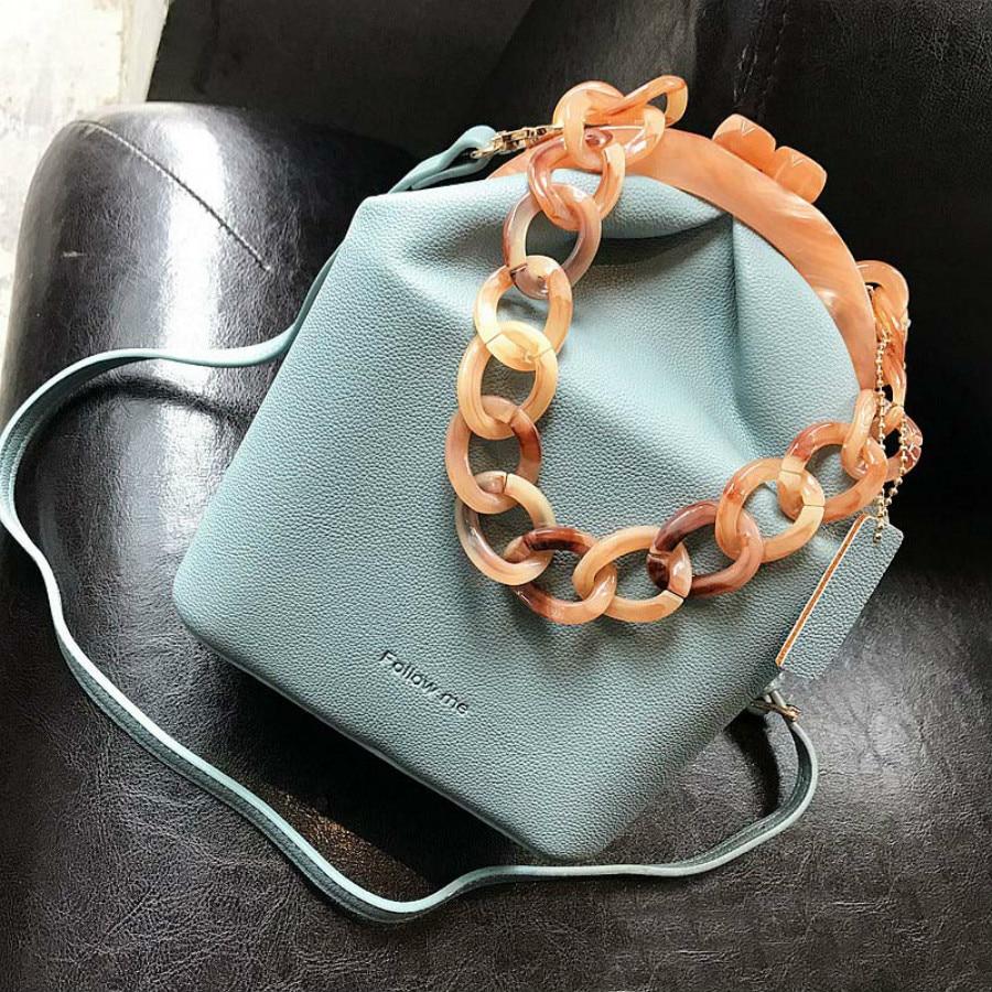 Sac seau acrylique Clip acrylique femmes sac à main boîte sac Simple mode sacs à bandoulière sac de soirée pour femme luxe chaîne sac à main 2019