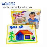 Bambini puzzle giocattoli fungo delle unghie inserita perline flapper assemblati giocattoli educativi per i bambini lo sviluppo dell'intelligenza