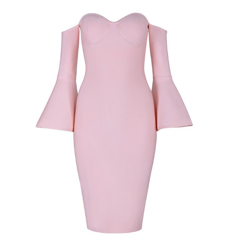 Зимний трикотажный искусственный шелк bodycon платье женщин сексуальный Flare миди платье с длинным рукавом 2018 элегантный теплый тонкий платье повязки vestidoes