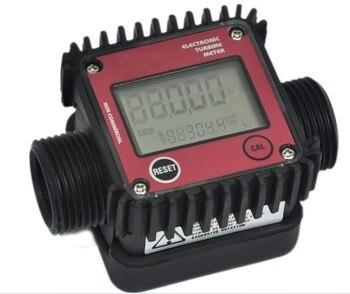 Digitaler Wasserdurchflussmesser   K24 Turbo Digitale Durchflussmesser Diesel Kraftstoff Wasser Plomeria Fluss Anzeige Protable Turbine Durchflussmesser Caudalimetro Sensor