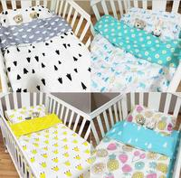 Fitted sheet baby Hot Crib Bed Linen 3pcs Baby crib Bedding Set Include Pillow Case+Bed Sheet+Duvet Cover Without Filling