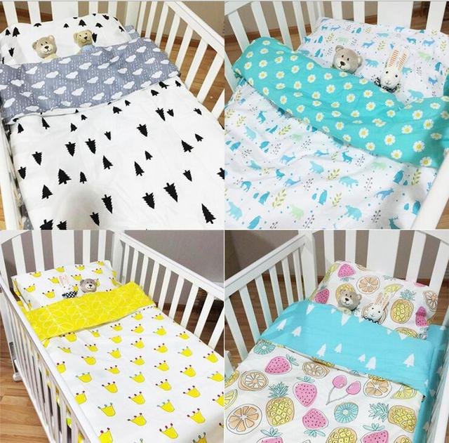 NEW Fitted sheet baby Hot Crib Bed Linen 3pcs Baby Bedding Set Include Pillow Case+Bed Sheet+Duvet Cover Without Filling 8 Style
