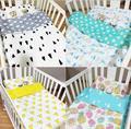 NOVO bebê lençol Roupa de Cama Berço 3 pcs Bebê Quente bedding set incluem fronha + lençol + capa de edredon sem enchimento 5 estilo