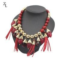 Fashion resin kettingen voor vrouwen 2017 fashion statement rood kwastje hangers & kettingen ZA acryl kralen jewlery