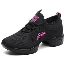 Hip Hop Dance Sneakers Sport Woman Shoes Breathable Black Dancing Shoes Women Practice Modern Female zapatillas jazz Discount 8