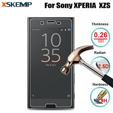 For Sony XPERIA XZS 9H HD 2.5D Premium Tempered Glass Film Screen Protector No Fingerprint Protective Film Case With Clean Tools
