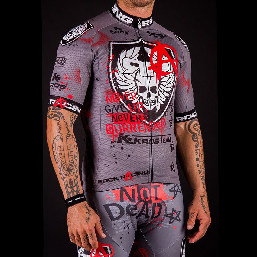 SPEED PEAK Pro Team Cool ROCK Racing Men Short Sleeve Cycling Jersey Set 3D Breathable Gel Pad Bib Short MTB Bike Clothing Sets