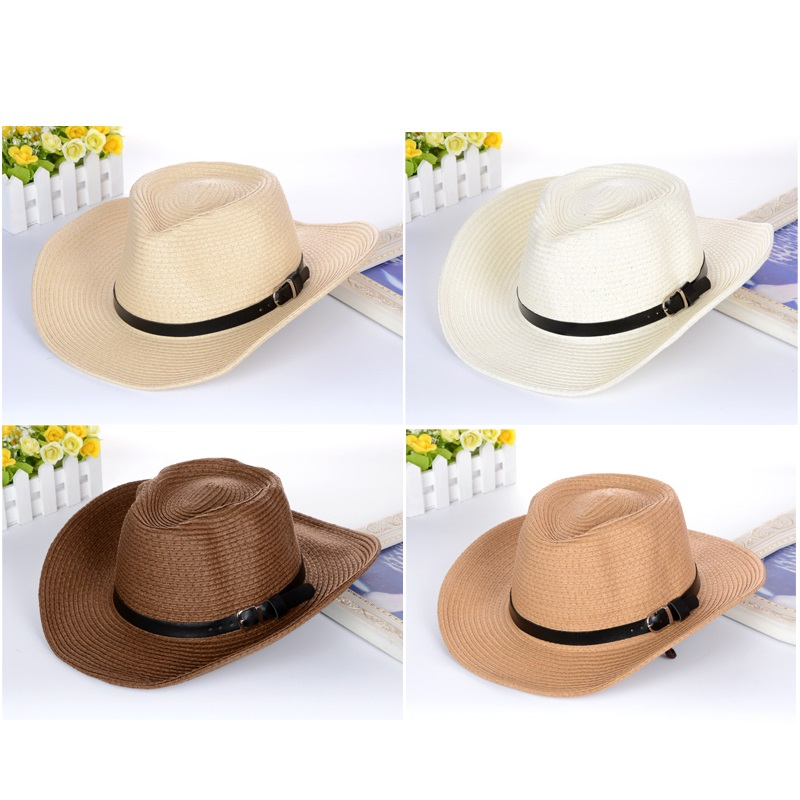 a8abbc2e3b90e New Male Fedora Straw Hat UV Protection Summer Sun Hats Man s Handmade  Raffia Straw Trilby Cap Beach Holiday Travel Hat B-8049