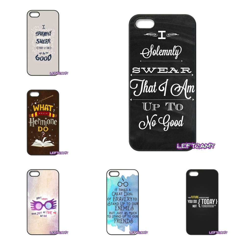 Harry Potter Quotes Art Hard Phone Case Cover For iPhone 4 4S 5 5C SE 6 6S 7 8 Plus X 4.7 5.5 iPod Touch 4 5 6