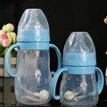 Newborn Baby bottle silicon milk bottle High Temperature Resistance Food Grade Silicone Bottle Wide aperture bottle 240ml NEW