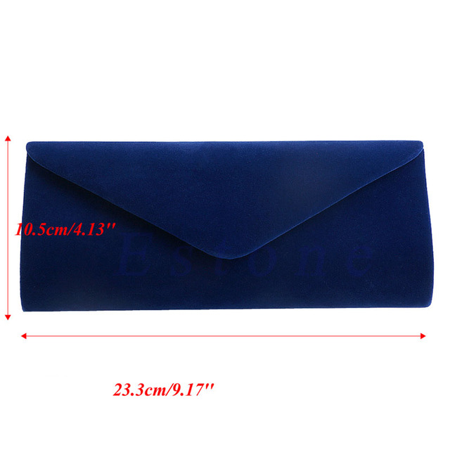 New 1Pc Ladies Velvet Evening Clutch Handbag Chain Bag Formal Chain Shoulder Tote Purse 3