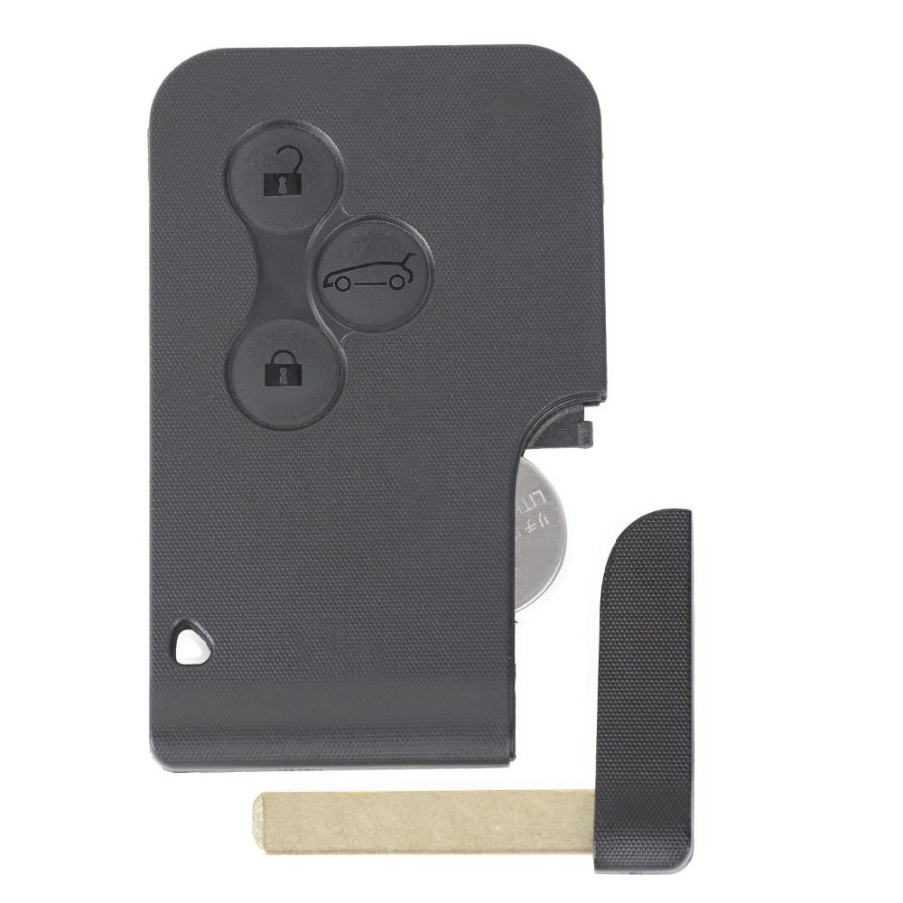 KEYECU Замена дистанционный ключ 3 кнопки 433 МГц ID46 для Renault Megane Scenic 2003 2008 10 шт./лот - 4